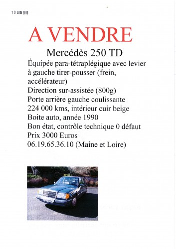 annonce, APF, voiture